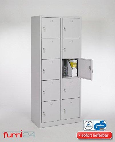 Schließfachschrank Schließfach Wertfachschrank Personalschrank Wertfach Spind 190 cm x 80 cm x 45 cm grau RAL 7035 **fertig montiert** Verschiedene Ausführungen