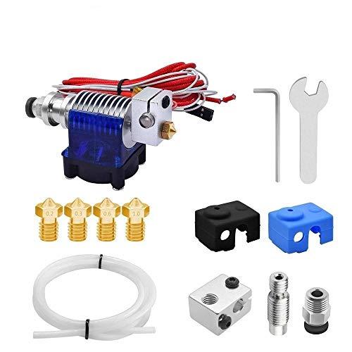 HUANRUOBAIHUO 1 set 3D Printer J-kop met koelventilator for 12V / 24V 1,75 mm 3D printer V6 bowden Filament Extruder 0,2/0,4/0,8 mm Nozzle extruders Components (Size : 24V)