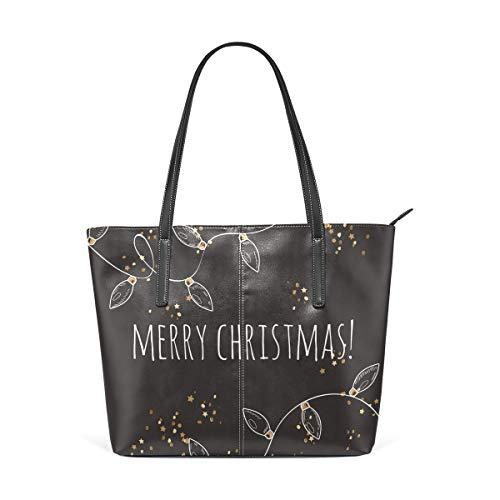 Women's Handbags Christmas New Year Garland Floral Flowers Tote
