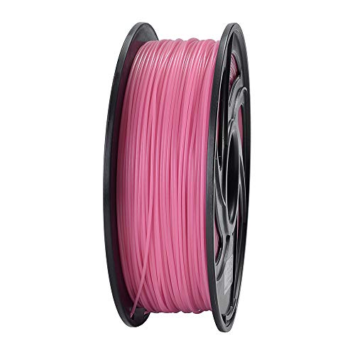 ET PLA 3D Printer Filament, RoHS Compliance,Dimensional Accuracy +/- 0.02 mm, 1 KG Spool, 1.75 mm, Glow in The Dark (Pink)