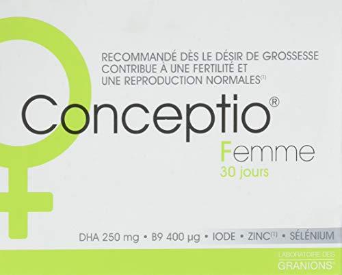 Conceptio Donna - 30 perle + 30 capsule = 30 giorni - Vitamina B9 (acido folico), Vitamine del gruppo B, Vitamina C, Vitamina A, DHA, Oligoelementi - Fertilità femminile e inizio della gravidanza