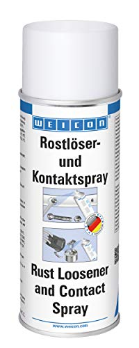 WEICON Rostlöser- & Kontaktspray 400ml löst festgerostete Bauteile z.B Auto Bremsen Batterieklemme Zündkerzen Felgen