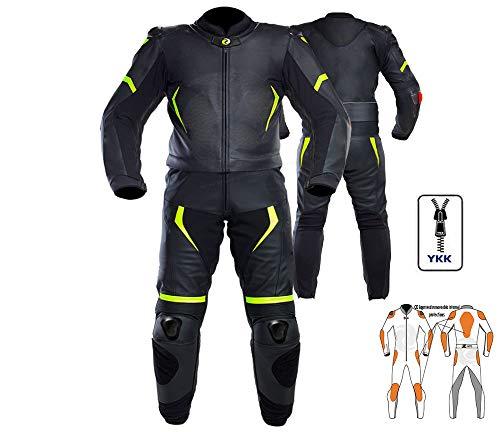 Juego completo de mopa de motocicleta de 2 piezas de piel y armadura aprobada por la CE. Chaqueta + pantalón para eventos de carreras y turismo, hecho a medida y de cualquier tamaño