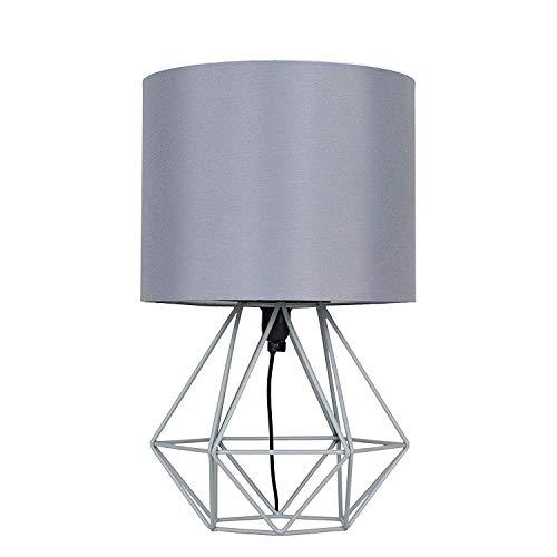 Moderne koperen metalen mand Cage Stytablamp met een witte stoffen kap dgtfdjhgrgdsfvdsgfhgfdvd/grijs & anonym; grijs