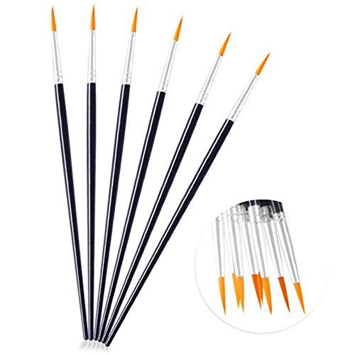 TUOF 10 Stks/set met de hand beschilderd dunne haak lijn pennen kunst benodigdheden tekening kunst pen penseel nylon penseel acryl schilderij pen
