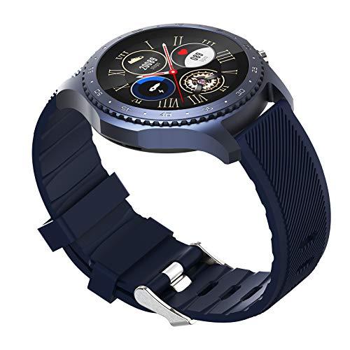 FMSBSC Smartwatch Mujer Reloj Inteligente Elegante Llamada Bluetooth Soporte para Hacer/contestar Llamadas telefónicas, Monitor de Sueño Pulsómetros, Modos Deportivos Fitness Tracker,Azul