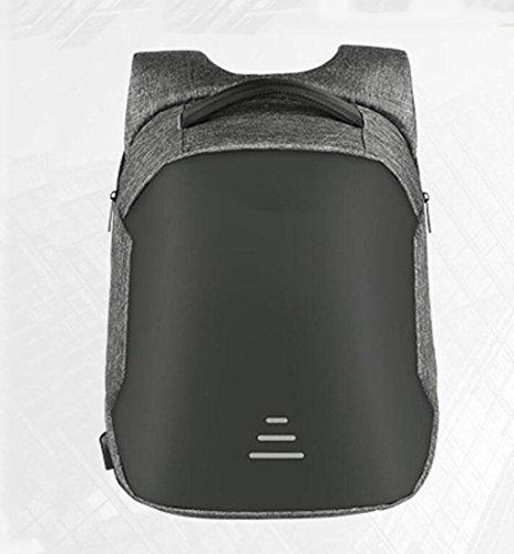 WYXIN Sac à dos antivol pour les étudiants du Collège et de l'école secondaire Étudiant Sac USB pour le chargement de l'ordinateur d'affaires Emballage Sac à dos de voyage étanche , gray