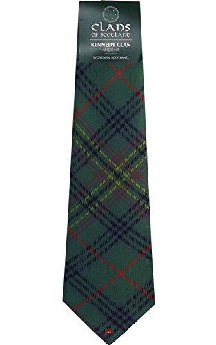 I Luv LTD Kennedy Ancient Clan 100% Wool Scottish Tartan Tie