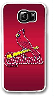 S6 Case, Galaxy S6 Case, Personalize St Louis Cardinals Samsung Galaxy S6 Hard Plastic White Case Protection Shockproof Case Cover for New Galaxy S6 2015