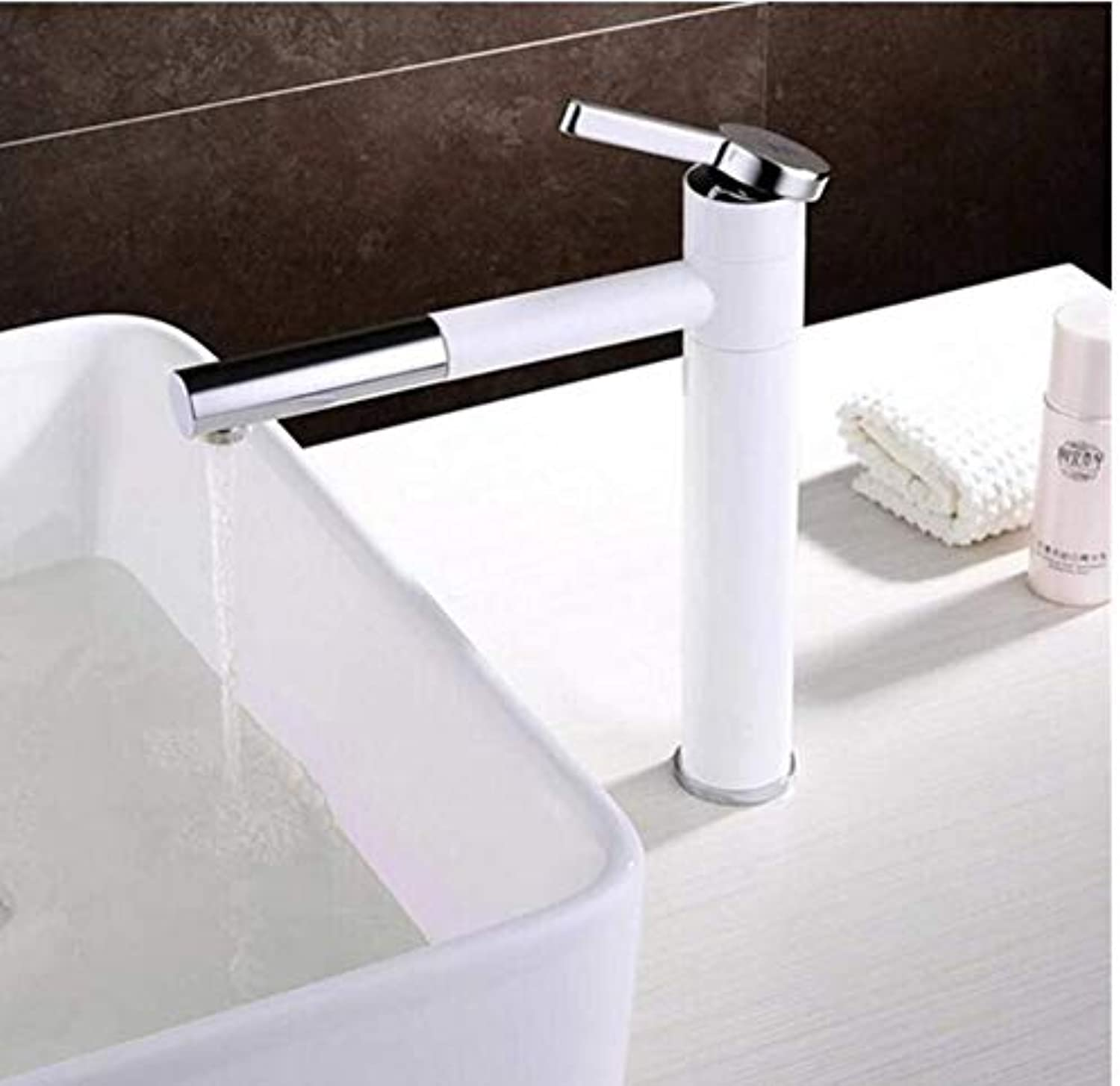 Modern Double Basin Sink Hot and Cold Water Faucetfaucet Hot Cold Basin Faucet White for Art Basin