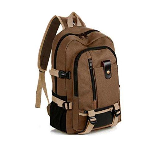✦JiaMeng Mochilas Escolares Mochila de Camping Hombre Mochila Vintage Mochila Adolescente Arreglo (marrón)