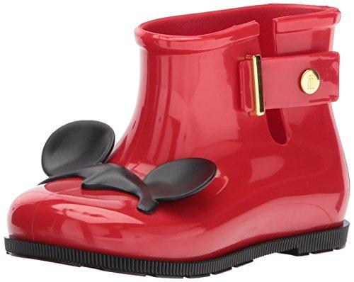 Mini Melissa Baby-Girl's Mini Sugar RAIN + Disney Twins Boot, Bordeaux, 6 Regular US Toddler