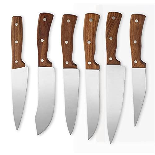 Establecer Cuchillo Cuchillos de acero inoxidable de la herramienta de cocina Set de 6 '' 7 '' 8 '' pulgada Pulgada de pesca Masticidad Filetear el soporte de la caja de almacenamiento de la caja de a
