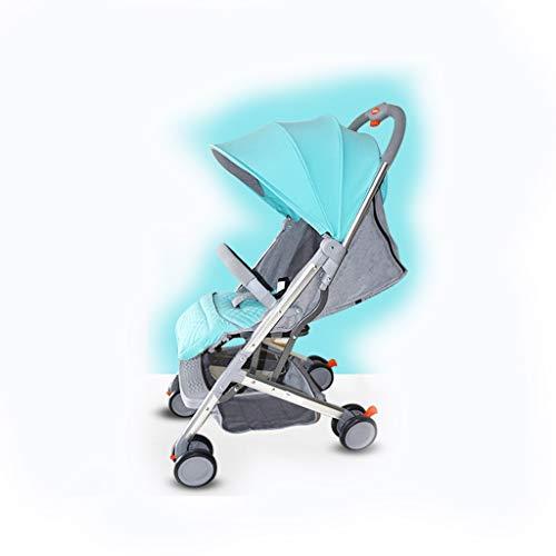 HBGGGG Kinderwagen, vouwwagen, vierhoekige verstelbare luifel, huidvriendelijk weefsel, hoogwaardig koolstofstaal hoog landschapskar