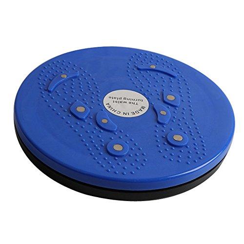 TU898TIE Twisting Disk Magnet Home Fitnessgeräte Übung Taille Damen Fitness Body Sculpting Bauch Schöne Bein Plattenspieler Drehplatte Balance Drehbrett für Torsionsscheibe (Blau)
