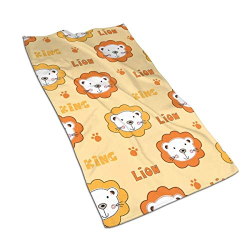 N/Q Cute Owls Baby Lions Hand Towels 15.7x27.5 Inches Microfiber Soft Face Towels, Super Absorbent and Quick Drying Towel for Bath, Hand, Face, Gym and Spa