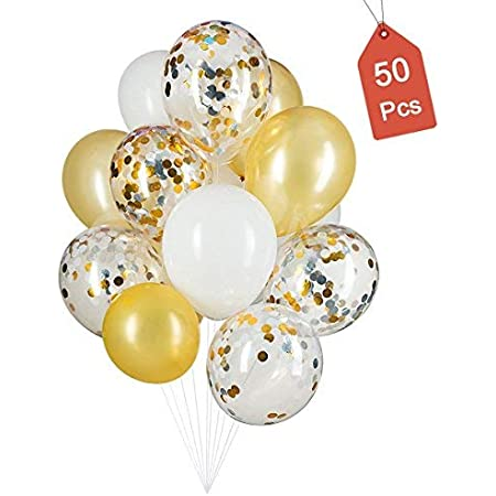 Birthday Gold White Clear Balloons Party Latex Balloons Baby Shower 11 Balloons Bride To Be Wild One Wedding Balloons Bridal