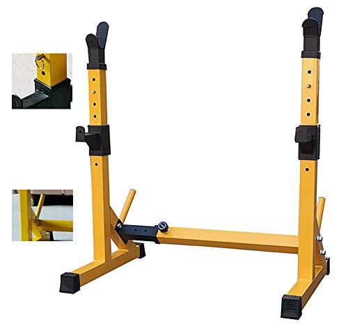 DZKU Barbell Rack, Kniebeugenständer Langhantelablage Höhenverstellbar, Multifunktionales Bankdrücken, Home Gym Krafttraining Stand Fitness, 150 Kg Belastbarkeit