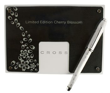 Cross Townsend Cherry Blossom Platinum Limited Edition Selectip Gel Ink Rollerball Pen with numbered...