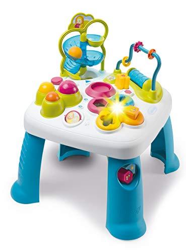Smoby 110426 Table d\'Activités Cotoons Activity-Spieltisch, Baby, Motorikspielzeug, Kugelbahn, Steckspiel, für Kinder ab 12 Monaten, Mehrfarbig