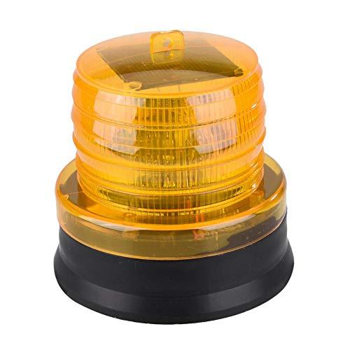 Voyant d'avertissement solaire du trafic 12V-24V LED, stroboscope de signal de construction, lumière de barrage routier de lumière stroboscopique(Yellow)