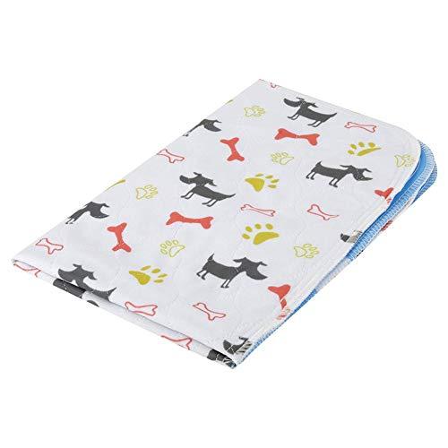 Pet Urine Pad, Reusable Cat Dog Diaper Waterproof Pet Pee Mat Cartoon Printing Pet Nappies for Dog Puppy Cat Kitten(4060cm)