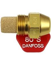 Danfoss Opalany olejem dysza palnikowa 0,50 x 80 S USgal/h ° stopniowy wzór natrysku 0,5 strumień grzewczy 1,87 kg/h