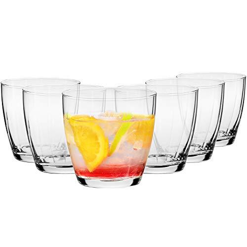 Krosno Vasos de Agua Jugo | Conjunto de 6 Piezas | 300 ML | Illumination Collection Uso en Casa, Restaurante y en Fiestas | Apto para Microondas y Lavavajillas
