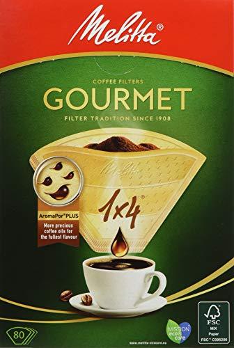 メリタジャパン コーヒーフィルターペーパーグルメ1X4 ブラウン 4〜8杯用 PG-148