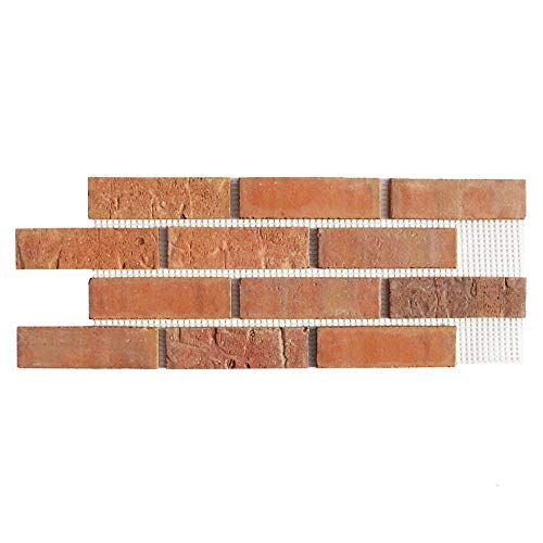 Brickwebb Thin Brick Sheets - Flats (Box of 5 Sheets) - Cordova