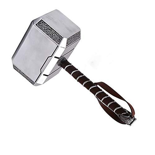 sookin Resina Thor's Hammer Martillo de Thor MjöLnir Martillo Batalla Thor 1: 1 Cosplay Arma de Utilería 45cm Thor's Hammer Halloween Cosplay Prop Regalo de Cumpleaños para Niño