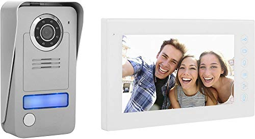 Smartwares DIC-22412 Video-Türsprechanlage mit flachem Touchscreen-Panel, 2draht Technik, 230 V
