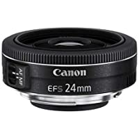Canon Pancake EF-S 24 mm f/2.8 STM - Objetivo para Canon, distancia focal 24 mm, apertura f/2.8, negro