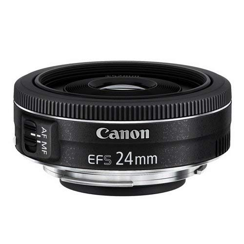 Canon EF-S 24 mm 1:2.8 STM lens zwart, Single, zwart