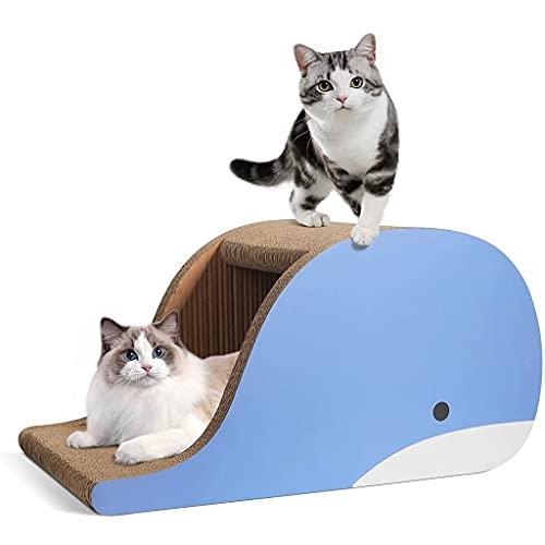 ZHAN YI SHOP Ballena Modeling Cat Scratch Board Nest, Sailer Scrapercedor De Gato Grande, Raspador De Gato De Cartón Corrugado, Sofá Cama De Rasguño De Gato, Casa para Gato, como Protector De Muebles