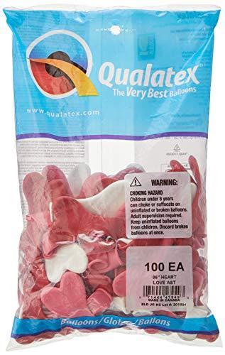 Palloncini Qualatex hearts (Bag di 100 Palloncini)