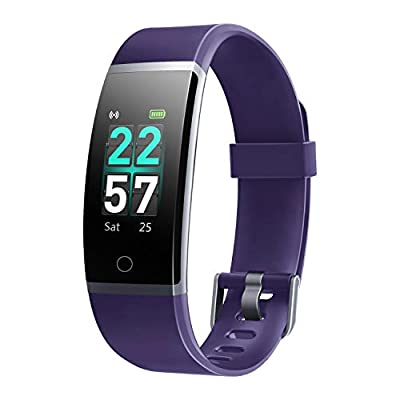 LETSCOM Fitness Tracker with Heart Rate Monitor, Color Screen Activity Tracker Watch, IP68 Waterproof Pedometer Sleep Monitor Step Counter Calorie Counter for Kids Women Men