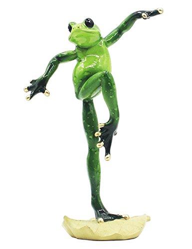 RAIKOU Moralische Integrität Frosch/Yoga Frosch, Schlafzimmer/Wohnzimmer/Fensterbank/Dekoration des Arbeitszimmer,Harz, Grün,unterschiede Stil-115010 (Kung Fu Frosch 1)