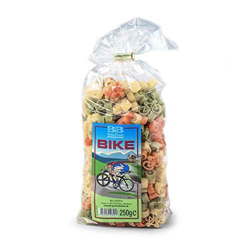 Monsterzeug Fahrrad Nudeln, Bunte Pasta, Fahrradfahrer Geschenk, Durum-Hartweizen, 250 Gramm
