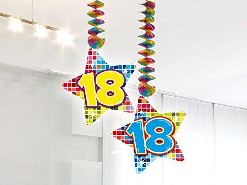 2-delige verjaardag hangdecoratie 18 jaar slinger party decoratie