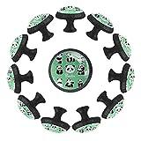Dony Panda Padre e Hijo - Tirador de manija para gabinetes de cocina, cajones, gabinetes y cajones para decoración del hogar (12 paquetes)
