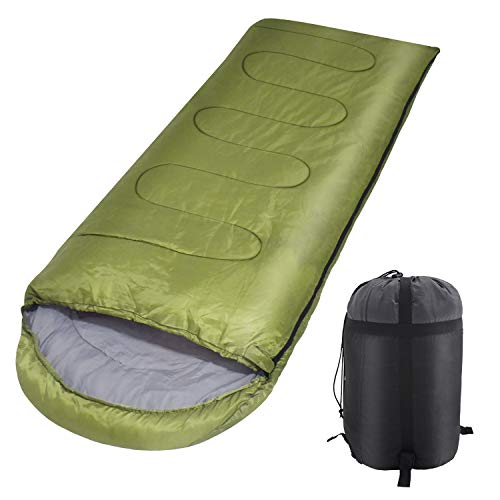 Sleeping Bags, Cold Weather Camping Sleeping Bags with Compact Compression Sack, Portable and Waterproof, for Backpacking, Hiking
