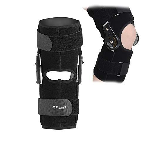 Filfeel Supporto per ginocchia, supporto per brace a ginocchio ad angolo regolabile per infortunio alla gamba o al ginocchio, legamento del ginocchio slogato e sport con approvazione FDA(L)