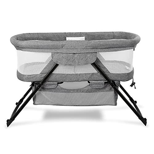 Bassinet 2-in-1 Fold Bassinet for Baby Stationary & Rock Portable Beside Sleeper for Baby