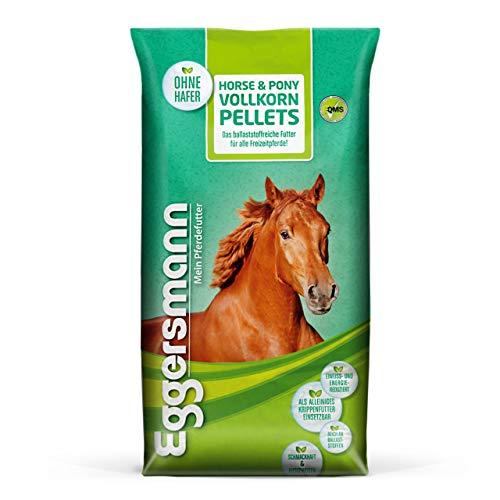 Eggersmann Horse & Pony Vollkorn Pellets 10 mm – Pferdefutter ohne Hafer – Eiweiß- und energiereduziert – 25 kg Sack