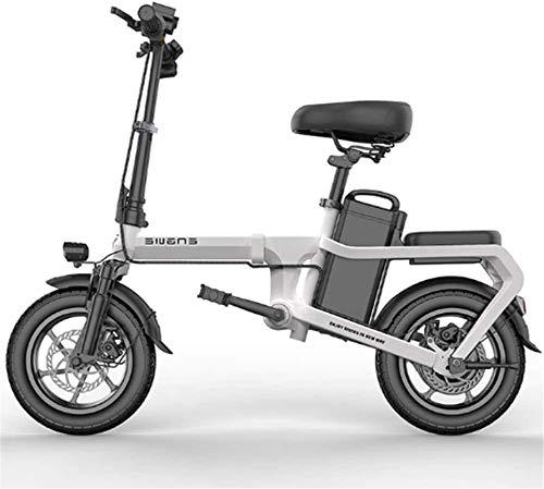 MQJ Ebikes Pieghevole Bici Elettrica per Adulti 6-15Ah 350W 48V Velocità Massima 25 Km/H con Prospettiva Completa Display Lcd Pneumatico da 14 Pollici Pneumatico E-Bikes per Gli Uomini Donne Ladies