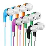 SP Soundpretty Bulk Kids Earbuds for Classroom 100 Pack Multi Color Bulk Multi Pack Earbuds Earphones Headphones for Children Students Schools Computers iPad Chromebooks Libraries Hospitals