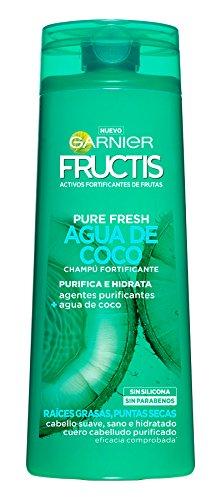 Garnier Fructis Pure Fresh Agua de Coco Champú Fortificante - 360 ml