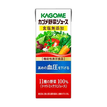 カゴメ 野菜ジュース 食塩無添加 200ml紙パック 24本入×4 まとめ買い