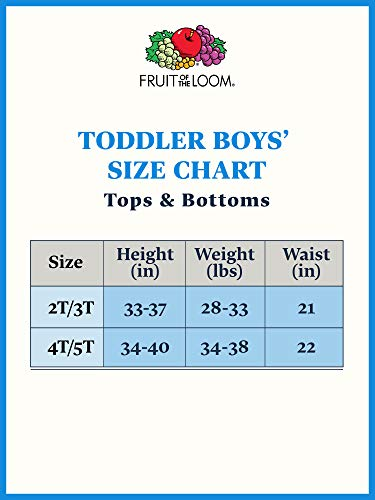 Fruit of the Loom Boys' Cotton T Shirt Underwear, Toddler-6 Pack-White, 4-5 Years (Pack of 6)